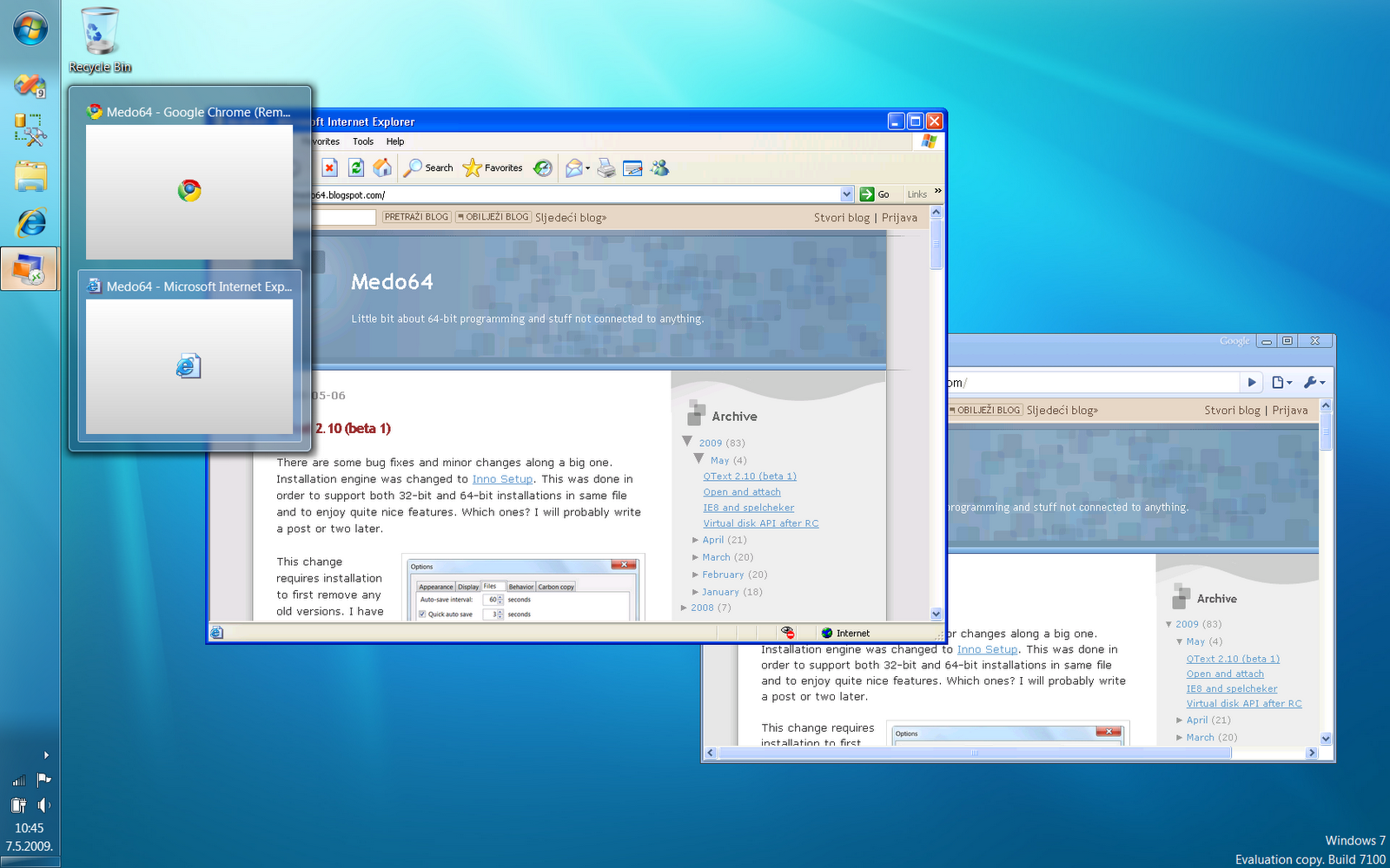 Windows 7 and the power of xp medo 39 s home page for Windows home page