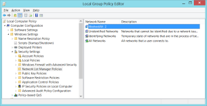 Local Group Policy Editor - Network Policies