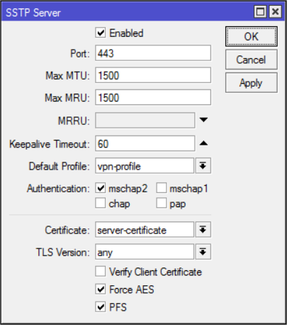 Simple SSTP VPN Server on Mikrotik – Medo's Home Page
