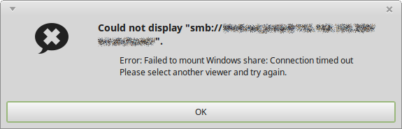"Solving ""Failed to Mount Windows Share"" – Medo's Home Page"