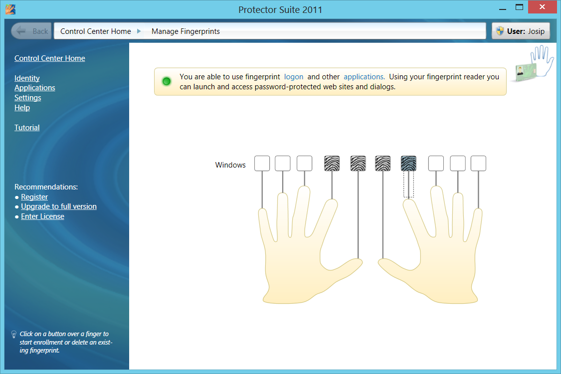 Fingerprint logon in windows 8 medos home page as ccuart Images
