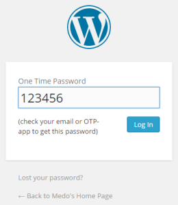 WordPress - Two factor authentication